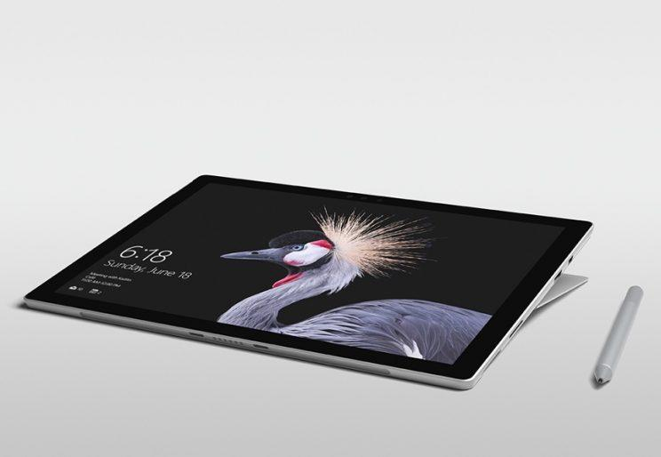 The Surface Pro's hinge.