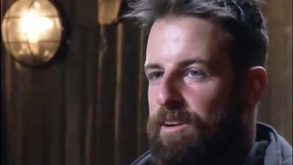James Magnussen is seen here during an interview on SAS Australia.