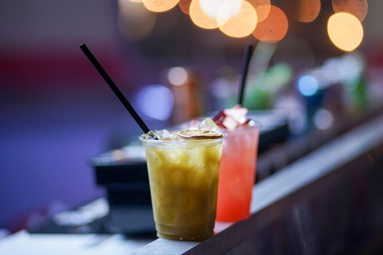 """<div class=""""caption""""> Drinks from Caneca, a cocktail bar housed inside an Airstream trailer at Lote 23. </div> <cite class=""""credit"""">Photo by Juanky Alvarez</cite>"""