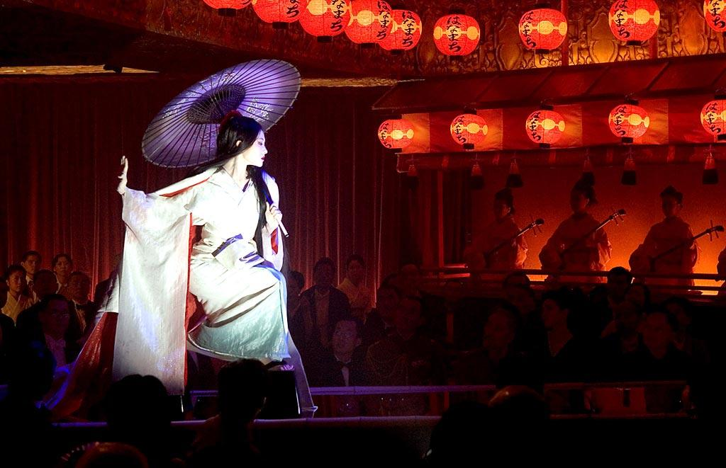 """<a href=""""http://movies.yahoo.com/movie/1808405115/info"""">Memoirs of a Geisha</a>  The geisha coming-of-age, called """"mizuage,"""" was really more of a makeover, where she changed her hairstyle and clothes. It didn't involve her getting... intimate with a client. In the climactic scene where Sayuri wows Gion patrons with her dancing prowess, her routine - which involves some platform shoes, fake snow, and a strobe light - seems more like a Studio 54 drag show than anything in pre-war Kyoto."""