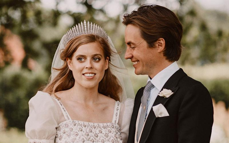 Princess Beatrice on her wedding day in July 2020 - Benjamin Wheeler/ PA
