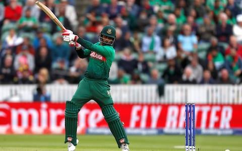 Bangladesh's Tamim Iqbal putting it up to the West Indies bowlers - Credit: Action Images via Reuters/Paul Childs
