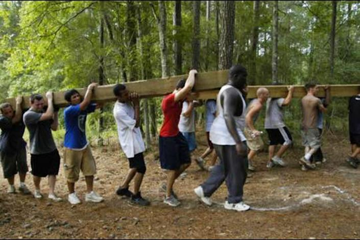 Former members of Bethany Church in Baton Rouge, La., who took part as teenagers in the 220i youth program say there were often made to take long hikes, do manual labor and perform calisthenics for hours in the sweltering summer heat. (Obtained by NBC News)