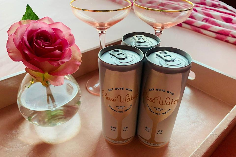 Cans of rose at Walker Tribeca for Breast Cancer Awareness Month