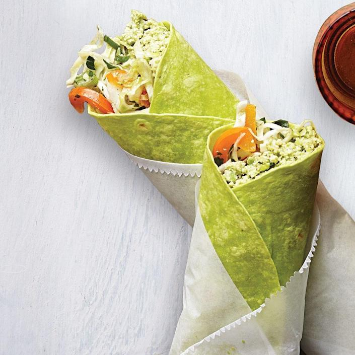 <p>Made with protein-rich edamame instead of chickpeas, this easy hummus recipe is the perfect vegetarian filling for a grab-and-go wrap. Or double the recipe and use the hummus for a healthy snack with cut-up vegetables.</p>