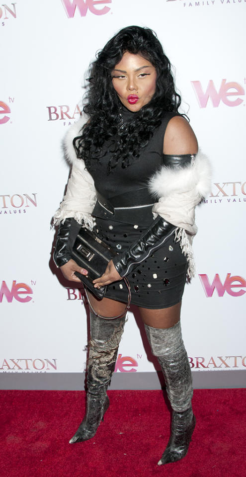 """Braxton Family Values"" Season Three premiere party at STK in NYC.   Pictured: Lil' Kim  Ref: SPL509809 130313  Picture by: Janet Mayer / Splash News     Splash News and Pictures  Los Angeles:	310-821-2666  New York:	212-619-2666  London:	870-934-2666  photodesk@splashnews.com"