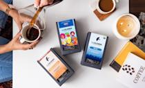 """Throw in some coffee beans while you're at it. (And in case you miss the fine print, $2 from each gift box supports <a href=""""https://www.vote.org/"""" rel=""""nofollow noopener"""" target=""""_blank"""" data-ylk=""""slk:Vote.org"""" class=""""link rapid-noclick-resp"""">Vote.org</a>.) $40, La Colombe. <a href=""""https://www.lacolombe.com/products/morning-noon-night-gift-box"""" rel=""""nofollow noopener"""" target=""""_blank"""" data-ylk=""""slk:Get it now!"""" class=""""link rapid-noclick-resp"""">Get it now!</a>"""