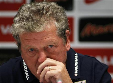 England's head coach Roy Hodgson attends a news conference at the Olympic stadium in Kiev September 9, 2013.