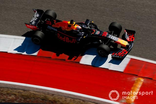 """Max Verstappen, Red Bull Racing RB15 <span class=""""copyright"""">Zak Mauger / Motorsport Images</span>"""