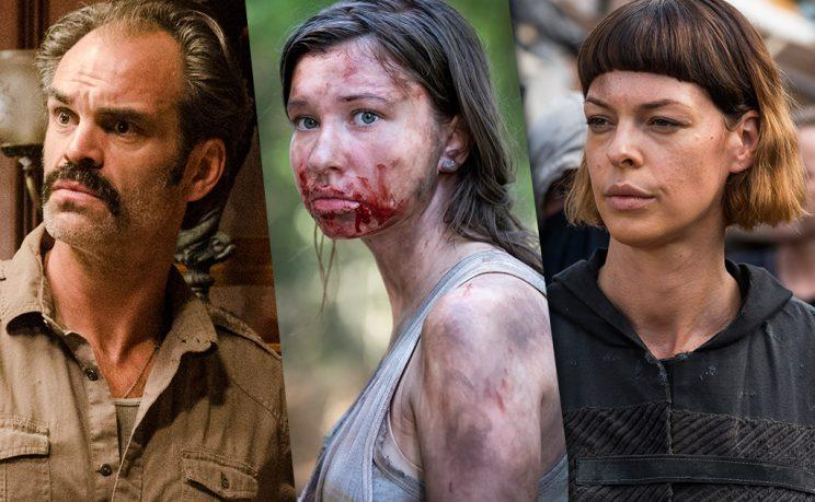 Steven Ogg as Simon, Katelyn Nacon as Enid and Pollyanna McIntosh as Jadis in AMC's The Walking Dead . (Photo Credit: AMC)
