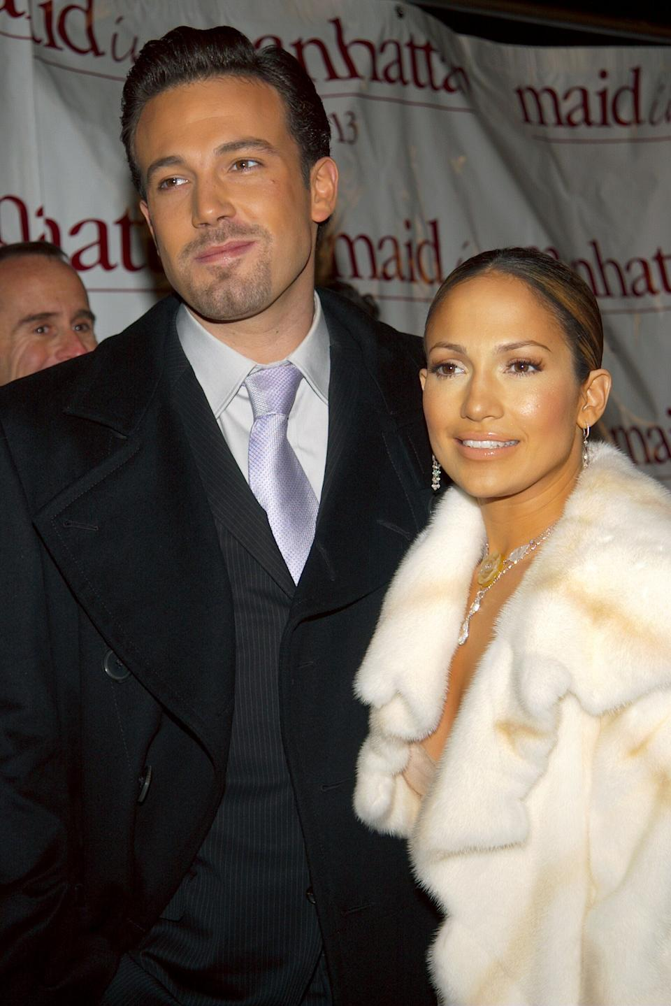 """<p>Affleck and Lopez's high-profile relationship more than made up for the bad reviews that accompanied their box office flop, """"Gigli."""" The pair became infamously known as """"Bennifer"""" after they started dating in 2002. Although they were engaged, their wedding was reportedly called off days before it was to take place in 2003. <em>(Image via Getty Images)</em></p>"""