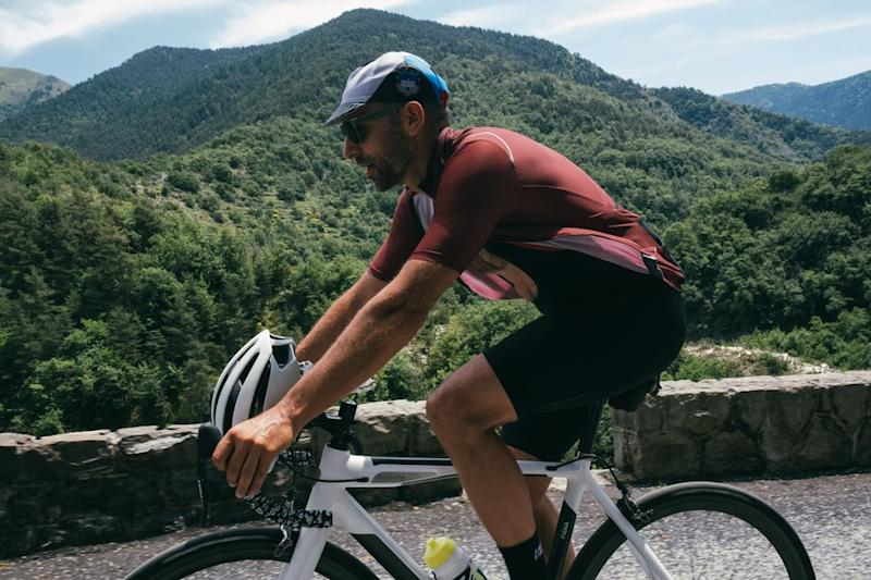 Remi Clermont cycling in the hills above Nice