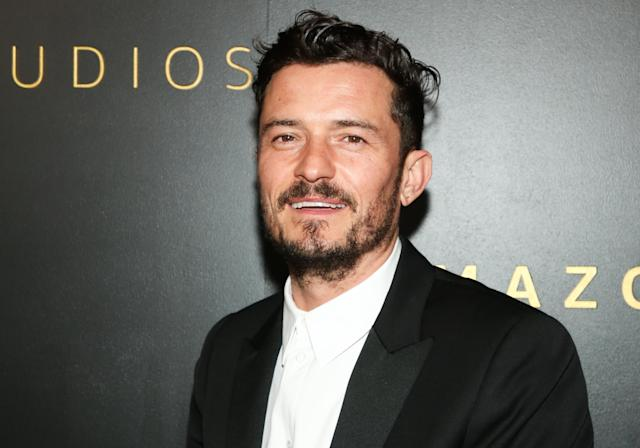 Orlando Bloom attends Amazon Studios Golden Globes after party at The Beverly Hilton Hotel in January 2020 (Paul Archuleta/WireImage)
