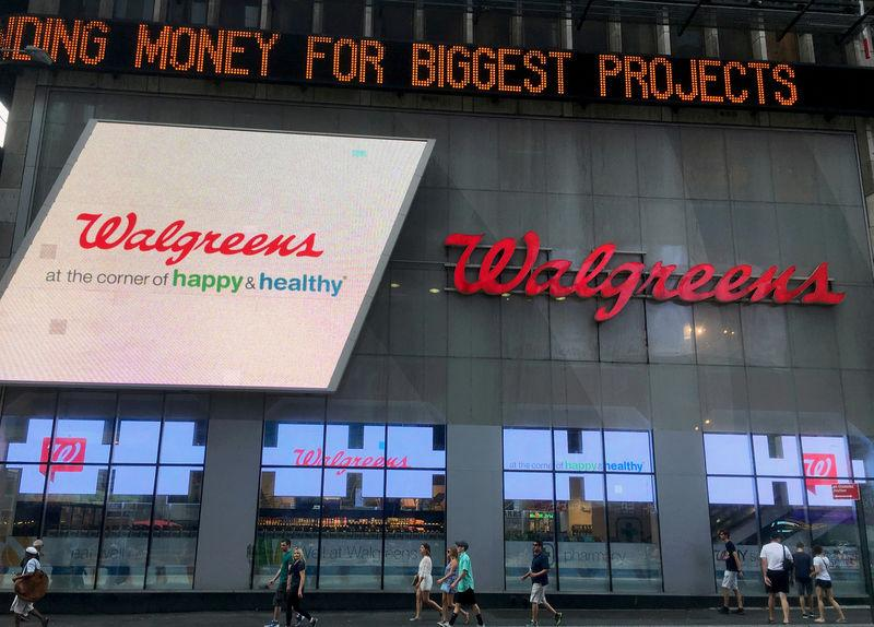 FILE PHOTO: The Walgreens store in Times Square seen in New York