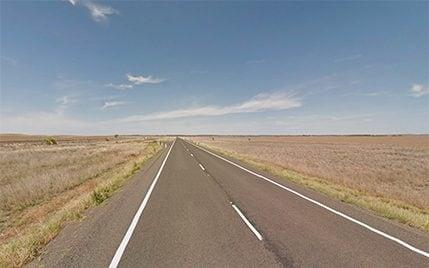 Police pulled over the car on the Warrego Highway at Mitchell, Queensland - Google street view