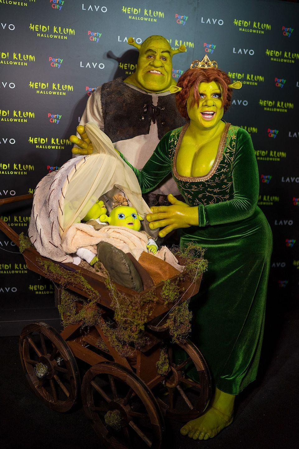 <p>As Shrek and Fiona.</p>