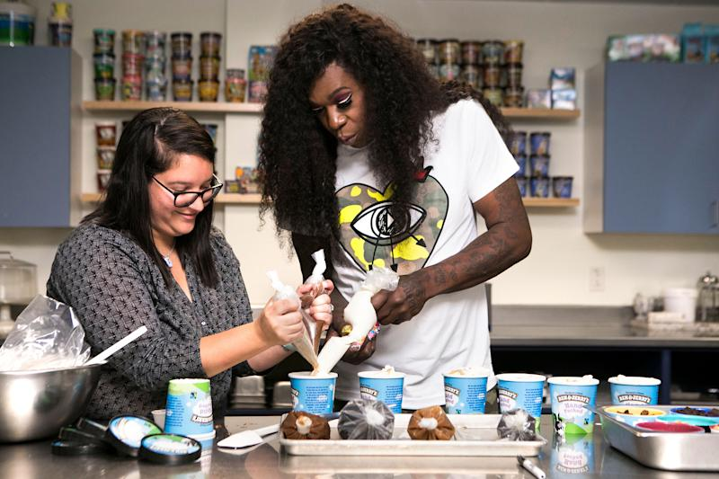 Big Freedia visited Ben & Jerry's in Vermont to help whip up the limited batch of Bouncing Beignets