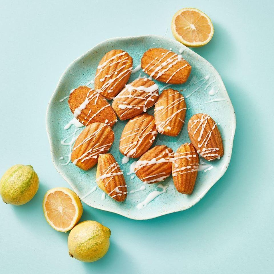 """<p>Give these cakey cookies a ghoulish makeover by dyeing the drizzled icing red. </p><p><em><a href=""""https://www.goodhousekeeping.com/food-recipes/a35537464/meyer-lemon-madeleines-recipe/"""" rel=""""nofollow noopener"""" target=""""_blank"""" data-ylk=""""slk:Get the recipe for Meyer Lemon Madeleines »"""" class=""""link rapid-noclick-resp"""">Get the recipe for Meyer Lemon Madeleines »</a></em></p>"""