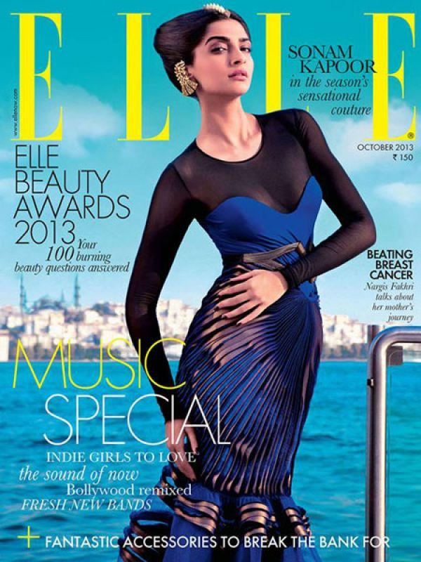 "<p><strong>Image courtesy : iDiva.com</strong></p><p><strong>Sonam Kapoor for Elle, October 2013 cover</strong>: Sonam never disappoints us on magazine covers. She looked striking in Amit Aggarwal couture. Traditional jewellery with a futuristic outfit created a power combination.<br /><strong><br />Sonam Kapoor: <a href=""https://ec.yimg.com/ec?url=http%3a%2f%2fidiva.com%2fnews-entertainment%2fsonam-kapoor-whats-the-big-deal-about-a-bikini%2f23304%26quot%3b&t=1492985660&sig=VxONB3h.Ntbf_y5FcliPYg--~C target=""_blank"">What's the Big Deal About a Bikini?</a></strong></p><p><strong>Related Articles - </strong></p><p><a href='http://idiva.com/photogallery-style-beauty/vote-chitrangda-singh-vs-anushka-sharma-on-july-mag-covers/22574' target='_blank'>Vote: Chitrangda Singh Vs Anushka Sharma on July Mag Covers</a></p><p><a href='http://idiva.com/photogallery-style-beauty/vote-sonam-kapoor-vs-deepika-padukone-in-september-mag-covers/24086' target='_blank'>Vote: Sonam Kapoor Vs Deepika Padukone in September Mag Covers</a></p>"