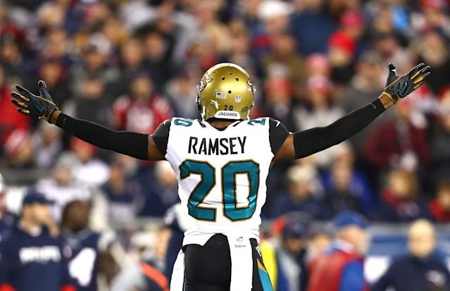 "<a class=""link rapid-noclick-resp"" href=""/nfl/players/29239/"" data-ylk=""slk:Jalen Ramsey"">Jalen Ramsey</a> doesn't mince words. (Getty Images)"