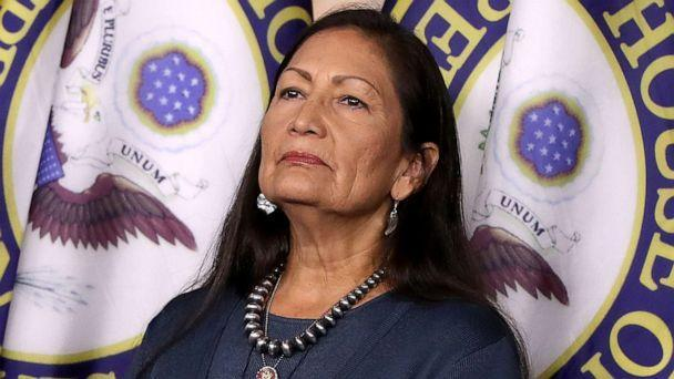 PHOTO: Rep. Deb Haaland attends a news conference at the Capitol, Sept. 27, 2019. (Chip Somodevilla/Getty Images, FILE)