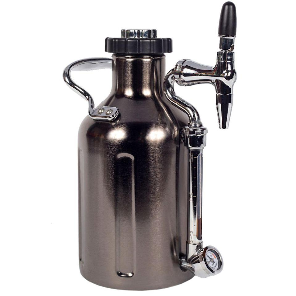 """<p><strong>GrowlerWerks</strong></p><p>amazon.com</p><p><strong>$199.00</strong></p><p><a href=""""https://www.amazon.com/GrowlerWerks-uKeg-Nitro-Coffee-Chrome/dp/B07X1LXC4X?tag=syn-yahoo-20&ascsubtag=%5Bartid%7C10054.g.22141607%5Bsrc%7Cyahoo-us"""" rel=""""nofollow noopener"""" target=""""_blank"""" data-ylk=""""slk:Buy"""" class=""""link rapid-noclick-resp"""">Buy</a></p><p>This gadget turns any old coffee into at-home nitro cold brew by infusing it with micro-bubbles. For coffee snobs and hipsters alike.</p>"""