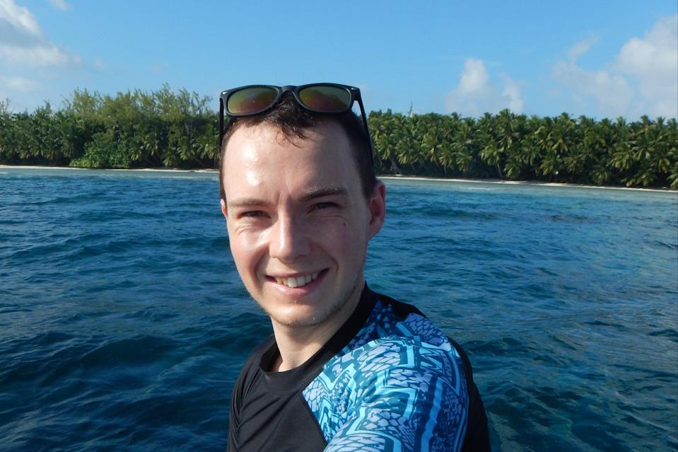 Nick Dunn is a conservation biologist investigating the habits of sharks and rays (Nick Dunn)