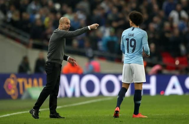 Pep Guardiola says Leroy Sane has turned down a new contract offer at City (Nick Potts/PA)
