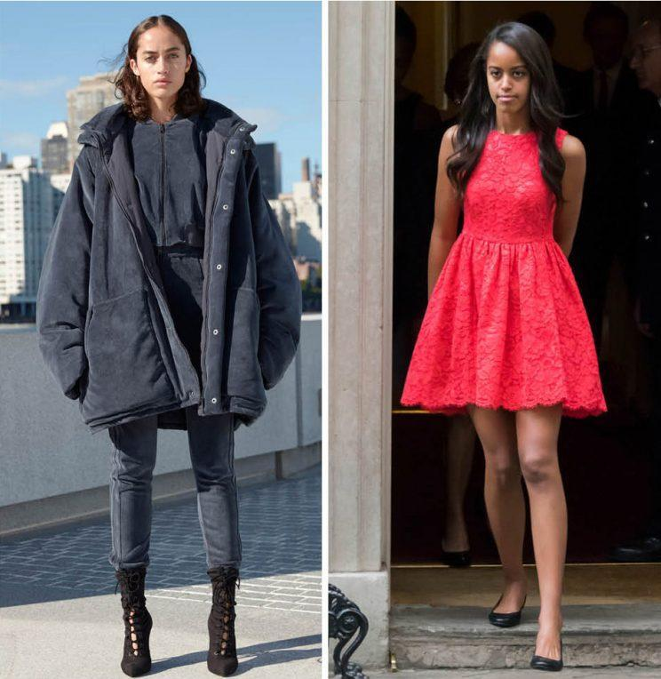 People thought this Yeezy model looked just like Malia Obama. Do you see the resemblance? (Photo: Yeezy/REX)
