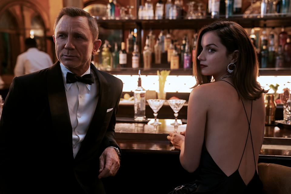 James Bond (Daniel Craig) and Paloma (Ana de Armas) in 'No Time To Die'. (Nicola Dove © 2020 DANJAQ, LLC AND MGM.)