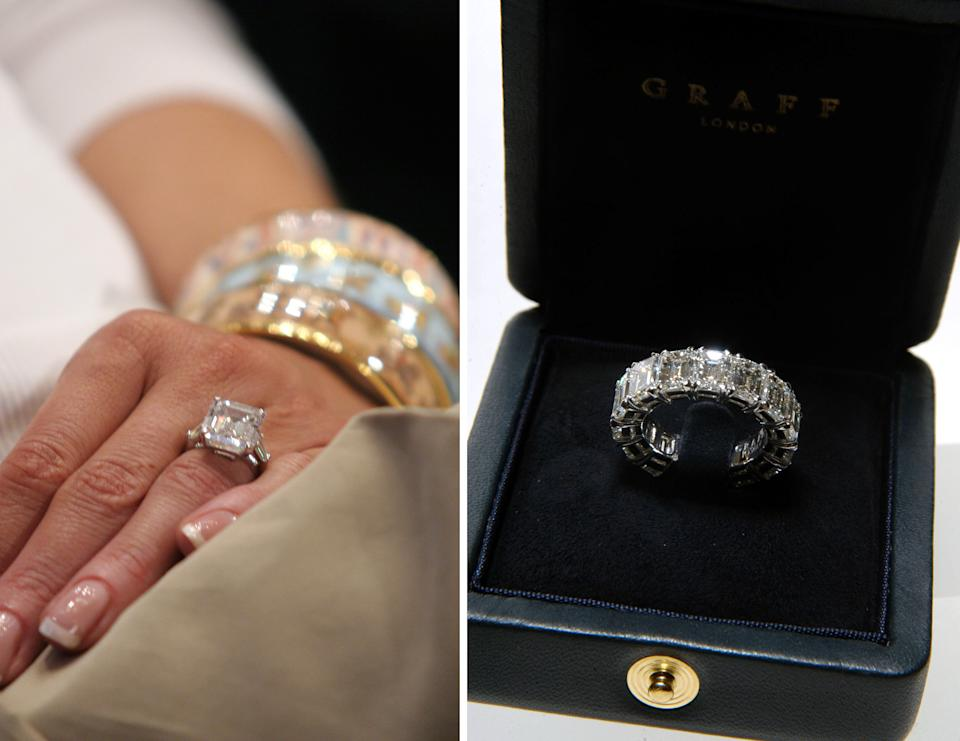 The wedding ring is believed to be worth around $1m, however, Melania seems to prefer to just wearing her $4m engagement ring. Photo: Getty