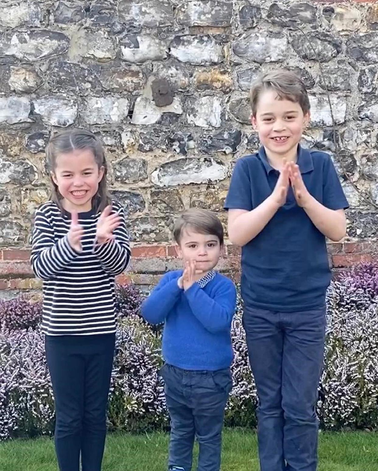 Princes George and Louis and Princess Charlotte