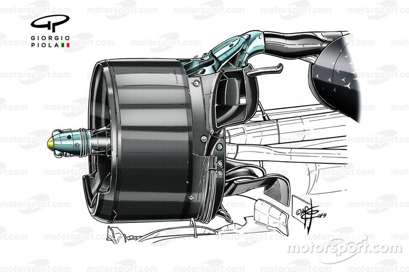 Mercedes AMG F1 W10, rear duct