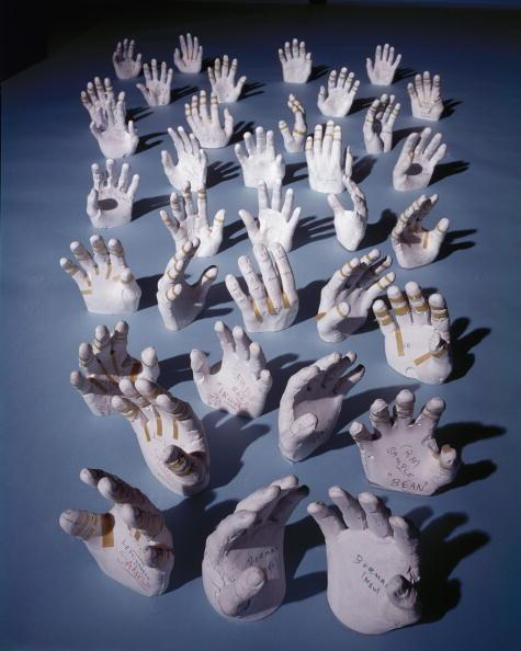 Jan 01, 1968 - Like pale sea anemones, plaster casts of the hands of NASA astronauts -- made so that their space suits can be custom-fit for each individual -- seem to wave at nothing in Houston, Texas, in 1968. Photo: Ralph Morse/Time & Life Pictures/Getty Images.