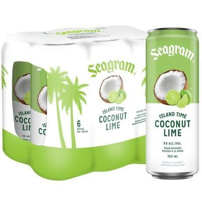Seagram Island Time Coconut Lime (CNW Group/Waterloo Brewing Ltd.)