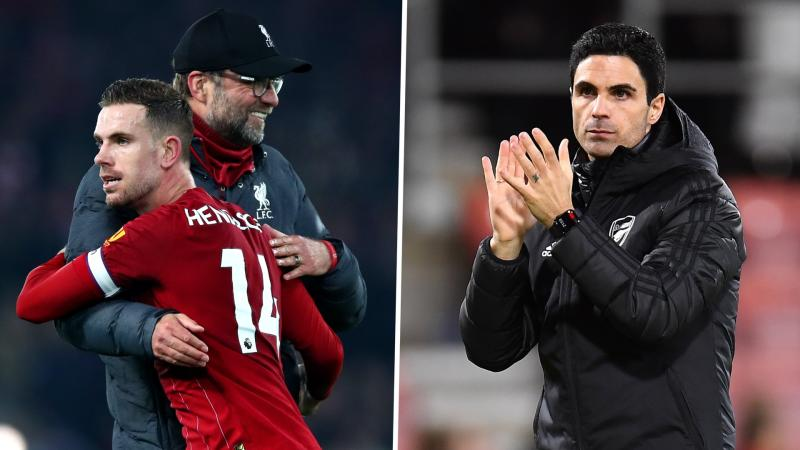 Arteta out to emulate Klopp & get Arsenal to be 'the best' in four years