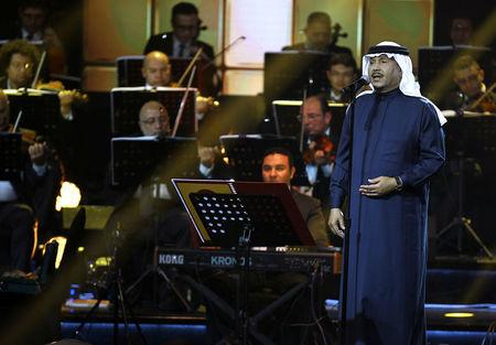 FILE PHOTO: Saudi Arabian singer Mohammed Abdu peforms during a concert in Riyadh, Saudi Arabia, March 9, 2017. REUTERS/Faisal Al Nasser/File Photo
