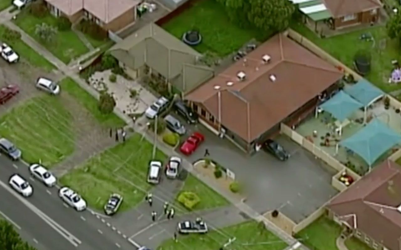 Kiddy Palace Learning Centre shown from above after a three-year-old girl was killed in the car park on Monday.