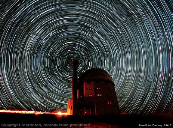 The South African Large Telescope takes snapshots of the sky that allow scientists to study binary star systems. Image uploaded on July 25, 2013.