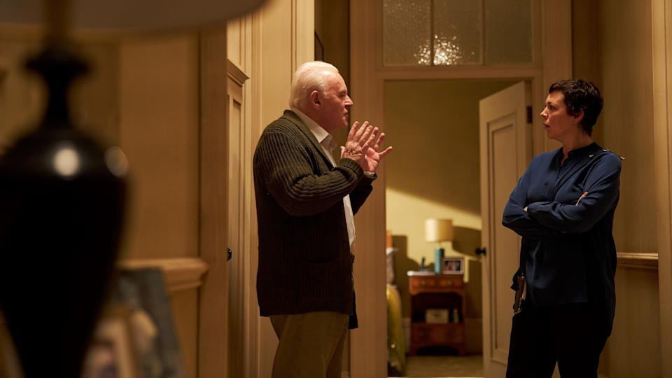 Anthony Hopkins (left) and Olivia Colman in The Father.