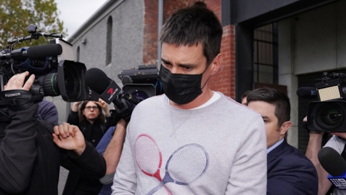 Melbourne man Richard Psy was arrested by police and surrounded by media