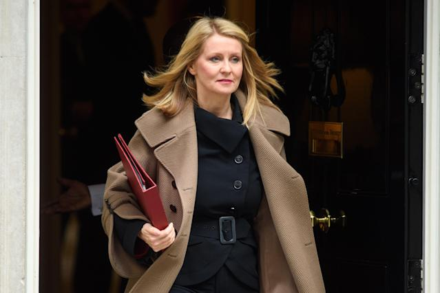 Esther McVey was one of the ministers to be sacked in Boris Johnson's reshuffle (Empics)