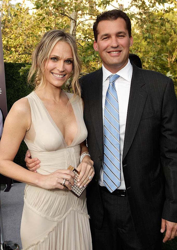 """Model-turned-actress Molly Sims (""""Las Vegas"""") and producer Scott Stuber (""""Whitney"""") got hitched in style in Napa Valley, California, on September 24. She wore a Marchesa dress and he wore a Tom Ford suit."""