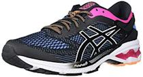 """<p><strong>ASICS</strong></p><p>amazon.com</p><p><strong>$108.95</strong></p><p><a href=""""https://www.amazon.com/dp/B07SBNVXLS?tag=syn-yahoo-20&ascsubtag=%5Bartid%7C2141.g.34362202%5Bsrc%7Cyahoo-us"""" rel=""""nofollow noopener"""" target=""""_blank"""" data-ylk=""""slk:Shop Now"""" class=""""link rapid-noclick-resp"""">Shop Now</a></p><p>Asics uses its special FlyteFoam technology to provide just the right cushioning and just the right bounce. What could be better? </p>"""