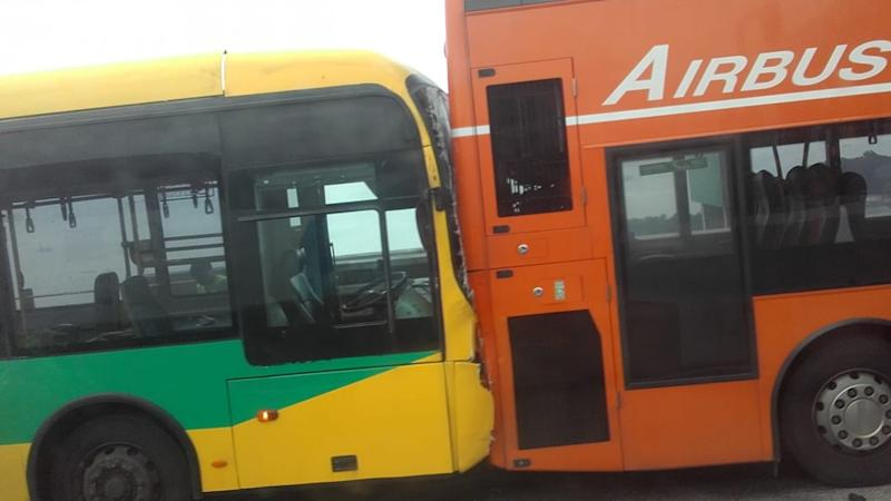 Nearly 40 passengers injured after five buses collide on Tsing Ma Bridge en route to Hong Kong International Airport