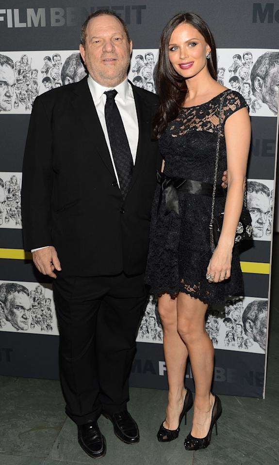 NEW YORK, NY - DECEMBER 03: Film producer Harvey Weinstein and fashion designer Georgina Chapman attend The Museum of Modern Art Film Benefit Honoring Quentin Tarantino at MOMA on December 3, 2012 in New York City.  (Photo by Andrew H. Walker/Getty Images)