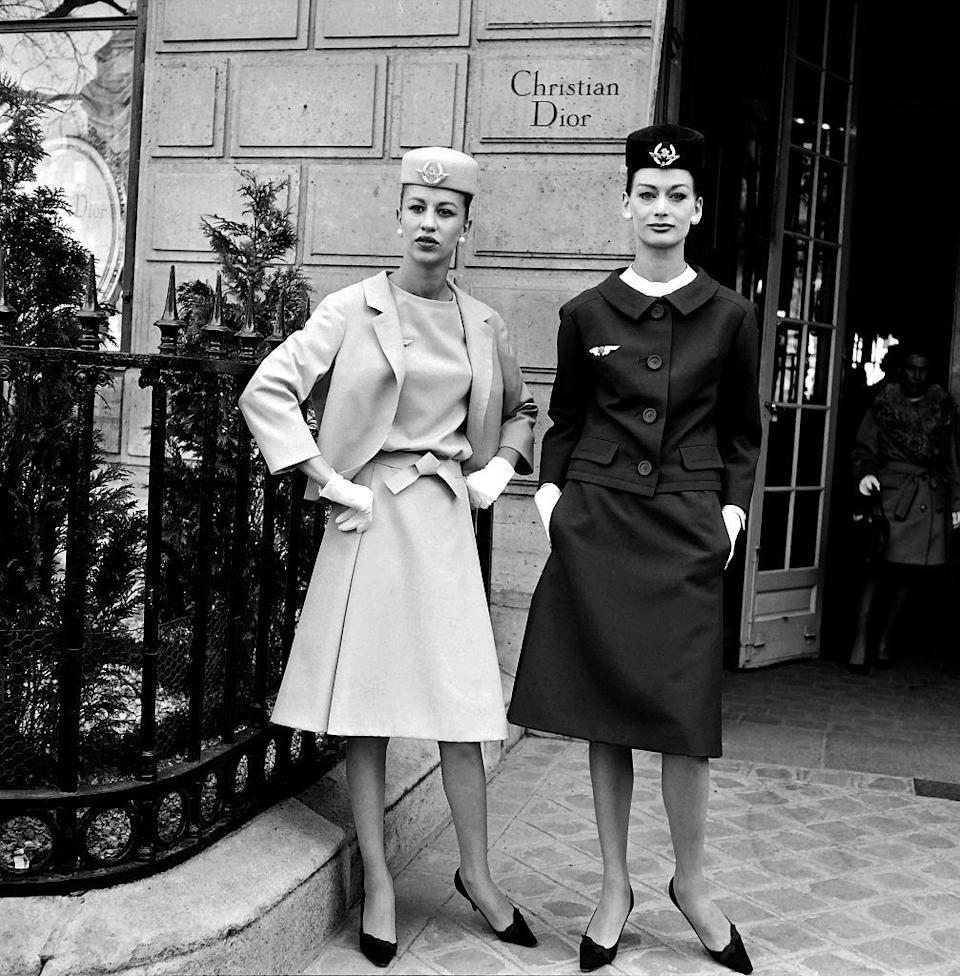 <p>As commercial flight became more fashionable, so did the flight attendant uniform. In 1962, Air France unveiled their new uniforms designed by Marc Bohan of Christian Dior.</p>