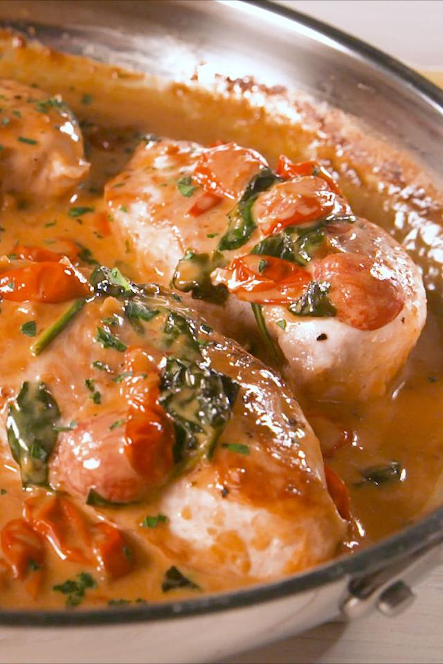 """<p>Bonus: Way cheaper than a trip to Italy.</p><p>Get the recipe from <a rel=""""nofollow"""" href=""""https://www.delish.com/cooking/recipe-ideas/a19636089/creamy-tuscan-chicken-recipe/"""">Delish</a>.</p><p><a rel=""""nofollow"""" href=""""https://www.amazon.com/Creuset-Signature-Handle-Skillet-4-Inch/dp/B00B4UOTBQ/?tag=delish_auto-append-20&ascsubtag=[artid 1782.r.19636089[src [ch """">BUY NOW</a> <em><strong>Le Creuset Signature Iron Handle Skillet, $200; amazon</strong></em><br></p>"""