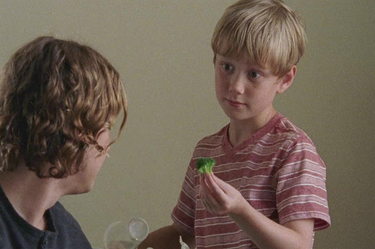 <p><strong>Season 7, The Well</strong><br />The cutie who plays Henry, the movie night-lovin', broccoli-hatin' Kingdomite being raised by his big brother, Benjamin, is Macsen Lintz, whose big sister, Madison Lintz, played Carol's doomed daughter, Sophia, in Season 1 and 2 of <em>The Walking Dead</em>. (Photo: AMC) </p>