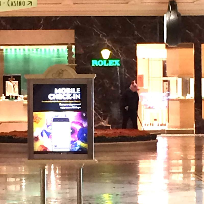 Man in pig's mask apparently holding a gun spotted in Las Vegas - Credit: @Kir_kamil